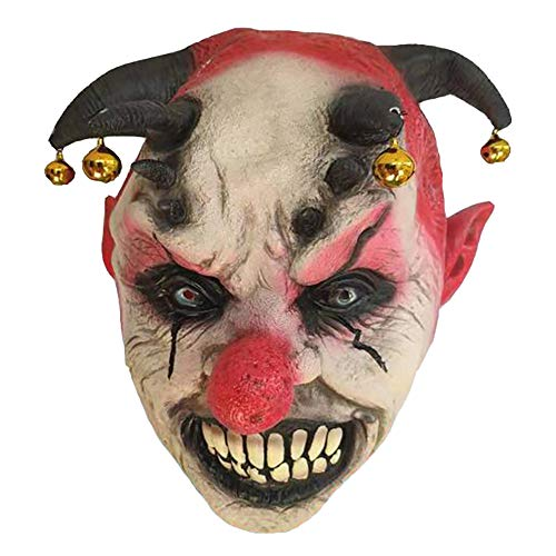 Wan mask Clown Maske Horror Latex Rote Nase Geeignet für Maskerade Party, Kostümparty, Karneval, Weihnachten, Ostern, Halloween, Bühnenauftritt, Basteldekoration (Kostüme Männliche Beängstigend)