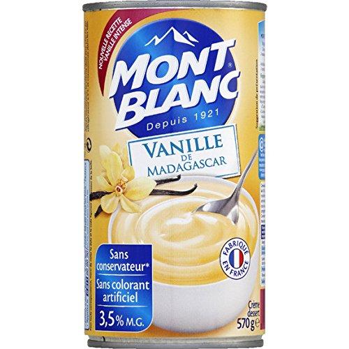 mont blanc Crème dessert à la vanille, nouvelle recette, format familial - ( Prix Unitaire ) - Envoi Rapide Et Soignée