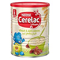 Nestle Cerelac Infant Cereal Wheat & Date Pieces - 400g Tin, 12265739