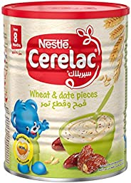 Nestle Cerelac Infant Cereal Wheat & Date Pieces, Tin pack,