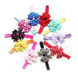 #1: Rrimin Girls Children Satin Headband Hair Bow Accessories 10pcs Color Random