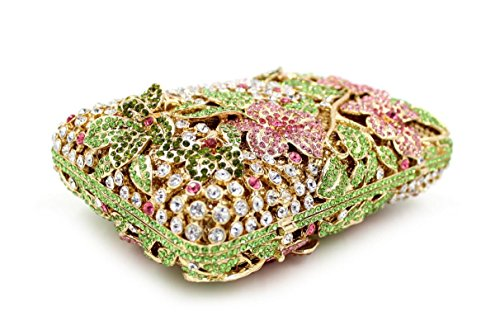 Damen-Abendessen Set Strass Diamanten und Diamanten High-End-Diamant-Wallet Glänzende Handtasche Bankett picture color