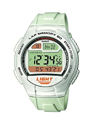 CASIO Collection Men con correa de resina blanca (alarma, cronómetro, luz) - sumergible a 100 metros