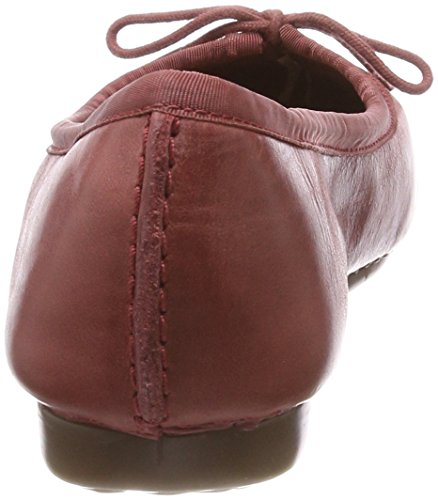 Clarks Damen Freckle Ice Geschlossene Ballerinas Rot (Brick)