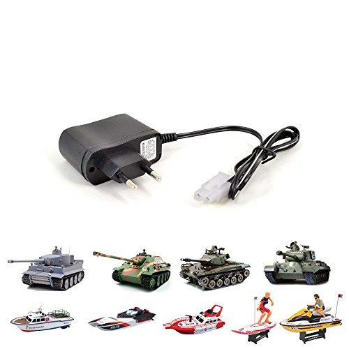 7.2V Universal Ladegerät mit Tamiya Stecker, Netzteil für verschiedene RC ferngesteuerte Boote, Panzer und Fahrzeuge, Neu