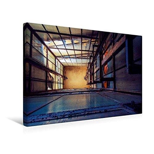 Premium-aufzug (Calvendo Premium Textil-Leinwand 45 cm x 30 cm quer, Aufzug Aussenansicht | Wandbild, Bild auf Keilrahmen, Fertigbild auf echter Leinwand, Leinwanddruck Technologie Technologie)