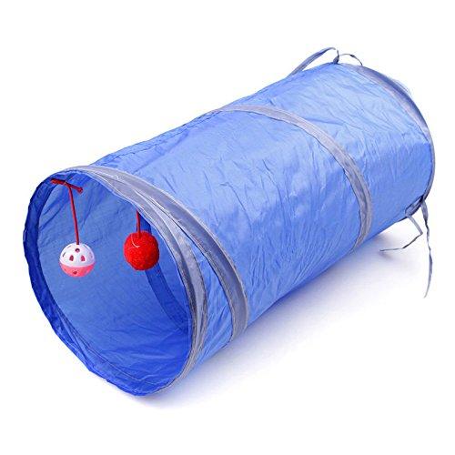 Sac pour animal domestique, pliable Pet Tunnel Chat Chaton furets Crinkle avec bague Bell coloré 50cm