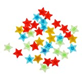 MagiDeal 36Pcs Bike Bicycle Wheel Spoke Star Beads Children Clip Colored Decoration