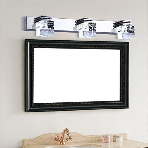 Un espejo de luz/luces delanteras/crystal lámpara de pared/LED luces delanteras del espejo de agua de baño/aseo/espejo que no se empaña la pasarela/luces de pared minimalista moderno,luz blanca,2