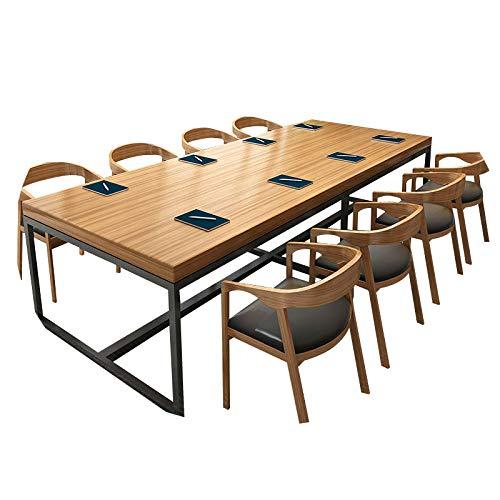 JZX Schreibtisch Aus Schmiedeeisen, Konferenztisch, Langer Tisch, Esstisch, Verhandlungstisch Für Schulungen, Moderner Computertisch,180 * 80 * 75,5 cm dick