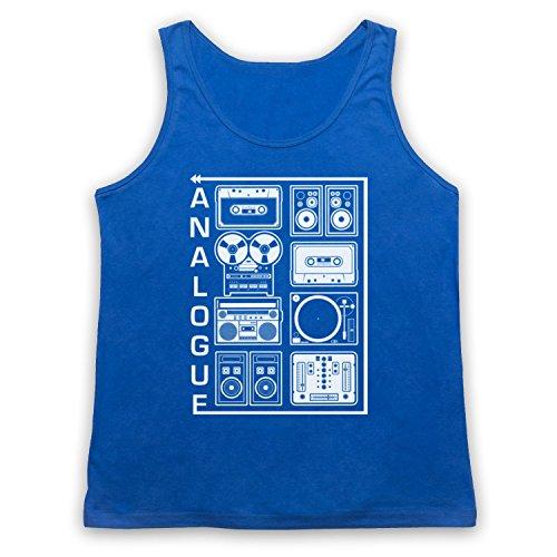 Analogue Audio Equipment Tank-Top Weste Blau