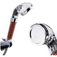 Ohpa 30% di acqua Soffione doccia ionico, con doccetta manuale, con 200% turbocompresso pressione e consumo di filtraggio a sfera per capelli & Dry