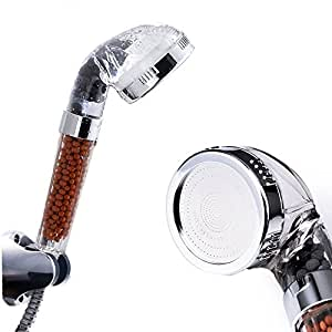 ohpa 30 water saving showerhead plus ionic filter handheld shower head with 200 turbocharged. Black Bedroom Furniture Sets. Home Design Ideas