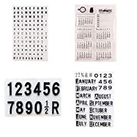 Welcome to Joyful Home 4pcs/Set Letters Calendar Months Numbers Rubber Clear Stamp for Card Making Decoration and Scrapbooking