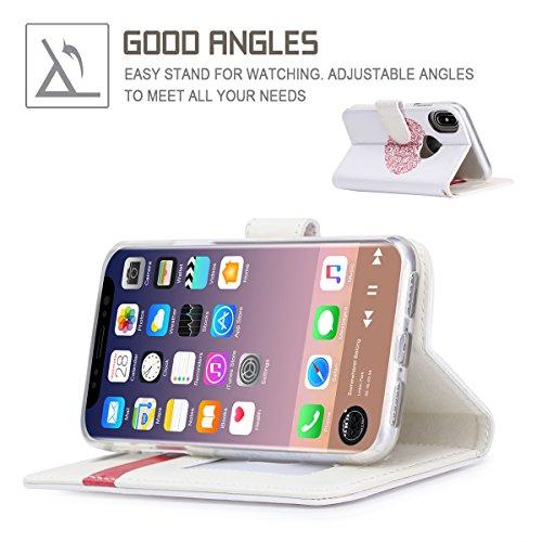 iPhone 8case, iPhone 8cover, Fyy Premium in vera pelle, 100% fatto a mano in foglio di [cavalletto funzione] con carta d identità e schermo per Apple iPhone 8 C-Pattern-27 C-Pattern-22