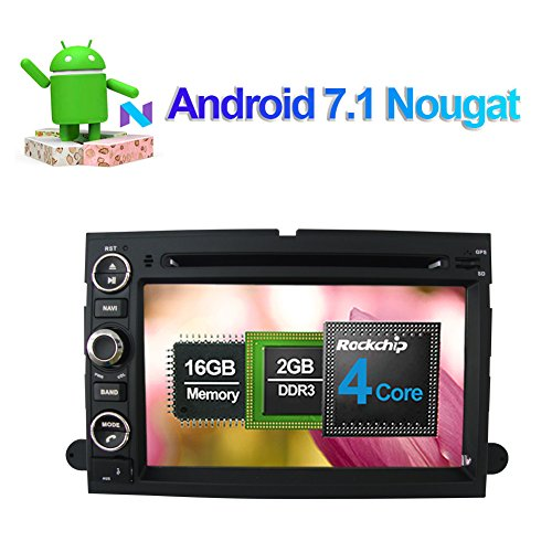 17,8cm Android 7.1Quad Core Touch Bildschirm Head Unit Autoradio Stereo Doppel DIN CD DVD Player mit Bluetooth GPS Navigation für Ford Fusion 2006-2009Ford Explorer 2006-2010Mustang 2005-2009