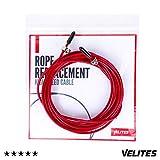 Câble de rechange pour corde à sauter de Crossfit, Fitness et Boxe par VELITES | Rouge de 2.5 mm de diamètre | Pour initiation aux doubles | Compatible avec autres jump ropes.