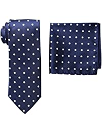 Stacy Adams Men's Tall-Plus-Size Satin Dot Tie Set Extra Long