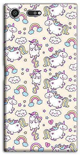 Mixroom - cover custodia case in tpu silicone morbida per sony xperia xz premium m586 unicorni colorati