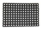 Home Line Gummimatte für Außen- und Eingangsbereich - Gummiwabenmatte schwarz...