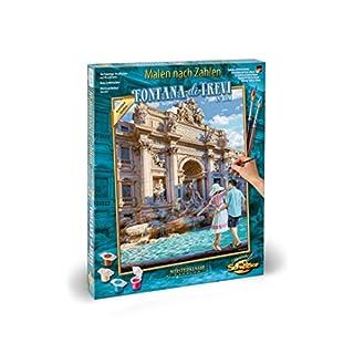 Schipper 609130819 Zahlen - Fontana die Trevi in Rom-Bilder malen für Erwachsene, inklusive Pinsel und Acrylfarben, 40 x 50 cm