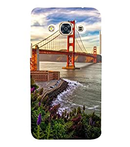 SUSPENSION SEA LINK AT SUNSET 3D Hard Polycarbonate Designer Back Case Cover for Samsung Galaxy J3 (2016) :: Samsung Galaxy J3 (2016) Duos with dual-SIM card slots