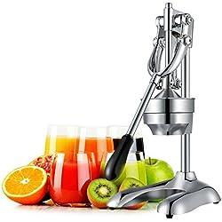 OZAVO Presse-agrumes Manuel | Extracteur de Jus | Presse-citron | Jucier | Jucier Manual | Moteur Silencieux | Centrifugeuse Fruits et Légumes | Sans Eplucher | Riche en nutrition | 304 Inox