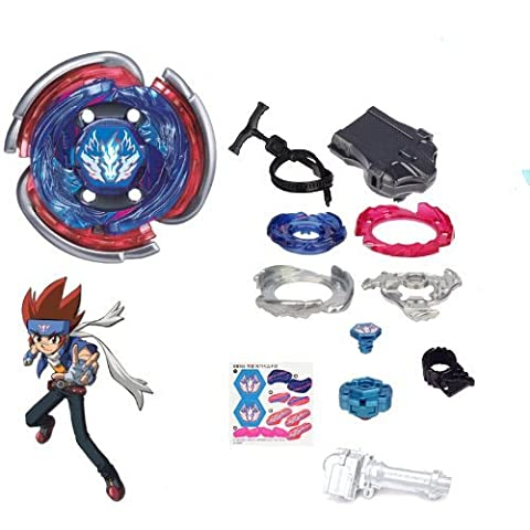 Coffret Beyblade Big Bang Pegasus F:D 4D / Cosmic Pegasus officielle Takara Tomy avec axe de rotation Final Drive ! - Coffret ULTIMATE avec système 4D, lanceur LL2, accessoires et Launcher Grip - Pack Set Beyblade Metal Fury
