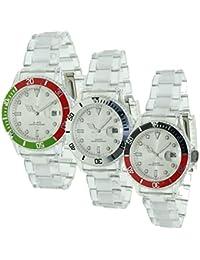 Christian Gar Reloj De Pulsera Christian Gar 7371 Reloj Unisex Plastico Con Calendario TRANSPARENTE