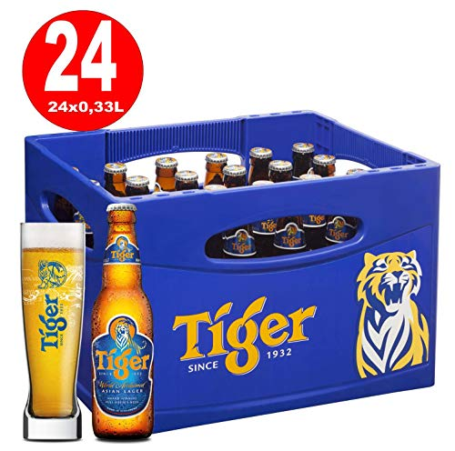 24 Flaschen Tiger Beer Asien a 0,33L Bier Tiger asian inc. 1.96€ MEHRWEG Pfand -