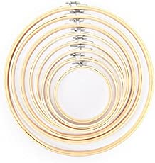 BuyWorld 13-34cm Bamboo Wooden Cross Stitch Machine Embroidery Hoop Ring Sewing Craft DIY