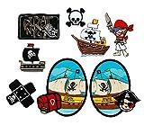 Mono-Quick Nummer 309 Aufbügelbilder Piraten Set, 8 Teilig, Piratenmotive,...