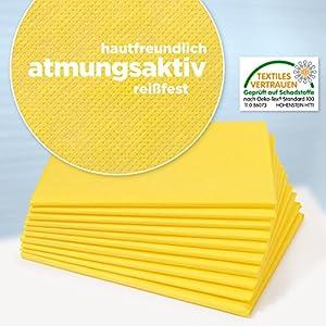 Dr. Güstel Waschfaserlaken PLUS gelb 120×210 cm 1 Vlieslaken OEKO-TEX®-zertifiziert Auflage für die Behandlungsliegen