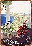 KODY HYDE Metall Poster - Capri Napoli Italia - Vintage