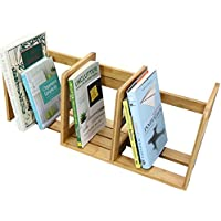 Desktop Adjustable Expandable Bookshelf Rack, Made of Bamboo