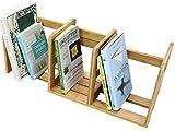 Bambus Desktop Buch Rack Erweiterbar Verstellbar Bücherregal