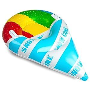 BigMouth Inc Wasserrutsche Bob Schlitten Schneetüte Rutsche aufblasbar 100 cm