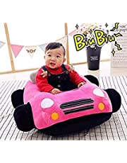 H.BABY Premium Quality Car Shape Baby Soft Plush Cushion Baby Supporter Sofa Seat,Baby Seating Traning Seat OR Rocking Chair for Kids 03-48 Months...