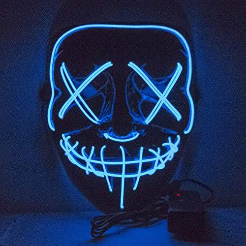 Purge Bilder Kostüm - Led Maske Purge Masken Wahl Mascara Kostüm Dj Party Leuchten Masken Glow In Dark Für Halloween