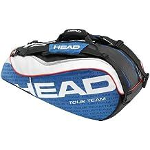 Head Tour Team Combi - Funda de raqueta de tenis ( bate, combi, mochila, para llevar, hombro ) , color azul / blanco