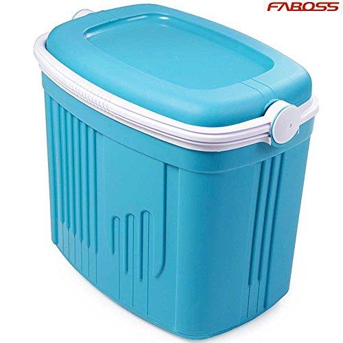 Kühlbox Passiv Notebook Kühl Reise Kapazität 52Liter mit Tragegriff Kühlbox ghiacciera für Strand Meer Pic Nic Wandern Farbe hellblau Kühlbox Box Iceberg L