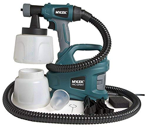 MYLEK MYPS700 PRO-Spray 700W Electric Sprayer Gun Kit-2 Paint Cups, Shoulder Strap, 2 Air Filters, Cleaning Pin & 1.8m Hose-Creates a Non-Drip, Fine Mist for Perfect, Professional Coverage