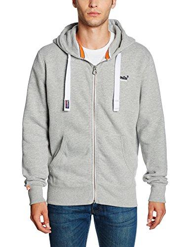 Superdry Herren Sweatshirt Orange Label Ziphood Grau (Grey Marl07Q), L