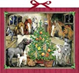 Large Traditional Card Advent Calendar Deluxe - Horse Stables