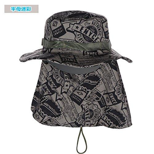 DMXY-UV Protection de la pêche en montagne Sun Hat Cap chapeaux Chapeau de jungle à séchage rapide et à l'extérieur les hommes et les femmes à cheval sauvage Hat C
