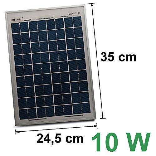 12V Solarmodul 10W Solarpanel Solarzelle Polykristallin Photovoltaik Solar Modul Photovoltaik-modul