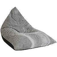 Lovely - Puf de diseño Moderno a Cuadros, Color Blanco y Negro, extraíble y