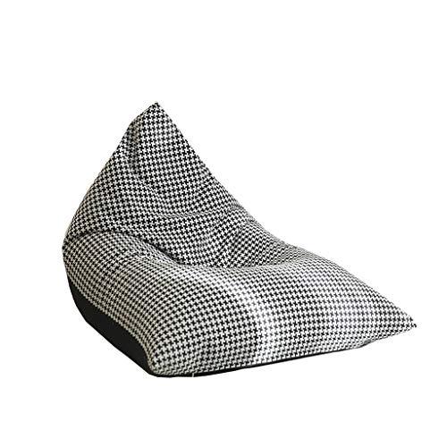 Sac À Haricot Simple À Carreaux Noir Et Blanc Moderne, Canapé Paresseux Double Couleur Amovible Et Lavable