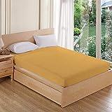 """AVI Waterproof Dustproof Terry Cotton Mattress Protector Double Bed-(72"""" X 75"""") Beige"""