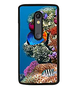 printtech Fish Ocean Coral Back Case Cover for Motorola Moto G Turbo Edition